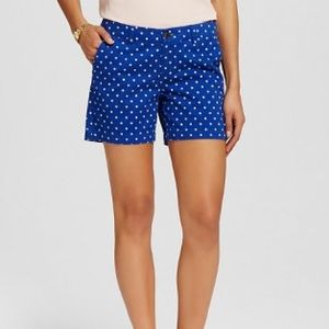 Blue Shorts with White Dots Shorts